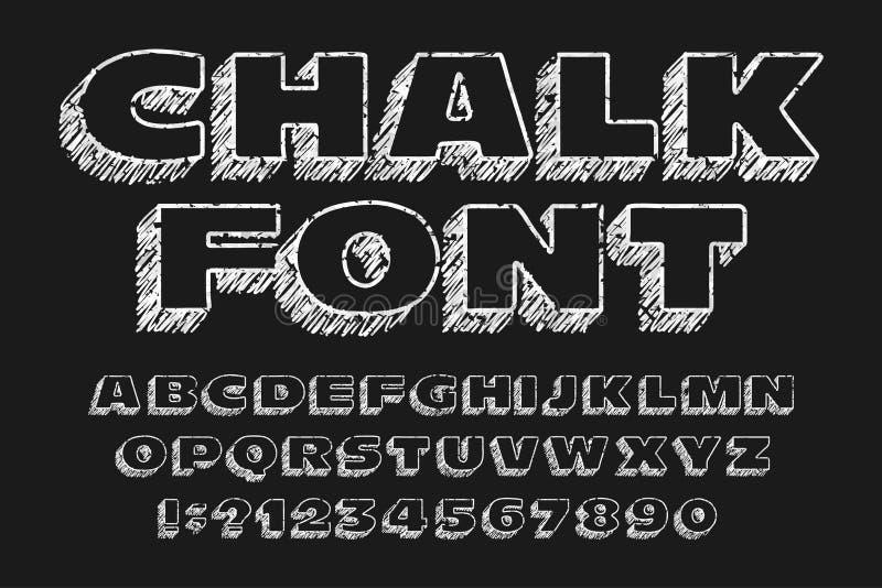 Πηγή αλφάβητου πινάκων κιμωλίας Χειρόγραφοι ακατάστατοι ευρείς επιστολές και αριθμοί ελεύθερη απεικόνιση δικαιώματος
