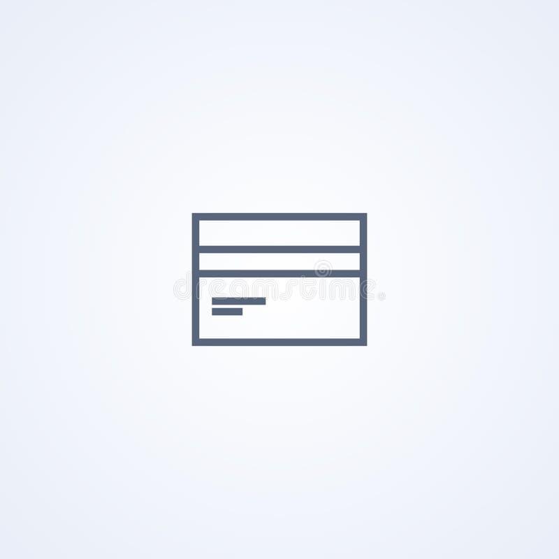 Πιστωτική κάρτα, διανυσματικό καλύτερο γκρίζο εικονίδιο γραμμών απεικόνιση αποθεμάτων