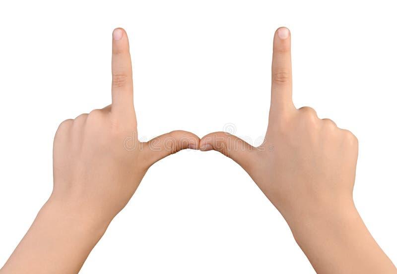 Πλαίσιο που γίνεται ορθογώνιο με τα χέρια αγοριών στοκ φωτογραφία με δικαίωμα ελεύθερης χρήσης