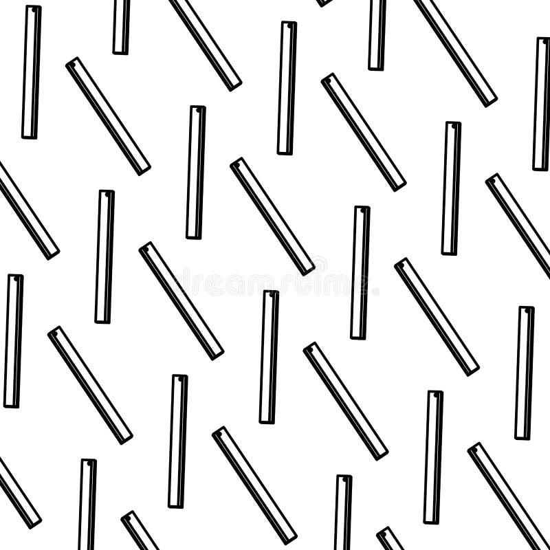 Πλαστικό υπόβαθρο σχολικών εργαλείων κυβερνητών γραμμών διανυσματική απεικόνιση