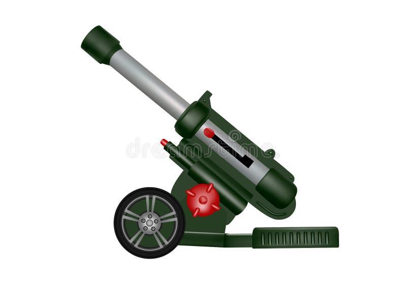 Πλαστικό πυροβόλο όπλο πυροβολικού παιχνιδιών Απεικόνιση πυροβόλων όπλων πυροβολικού διανυσματική απεικόνιση