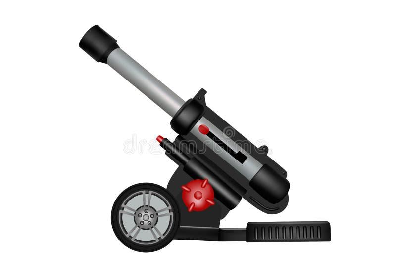 Πλαστικό πυροβόλο όπλο πυροβολικού παιχνιδιών διανυσματική απεικόνιση