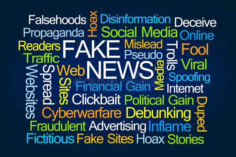 Πλαστό σύννεφο του Word ειδήσεων διανυσματική απεικόνιση