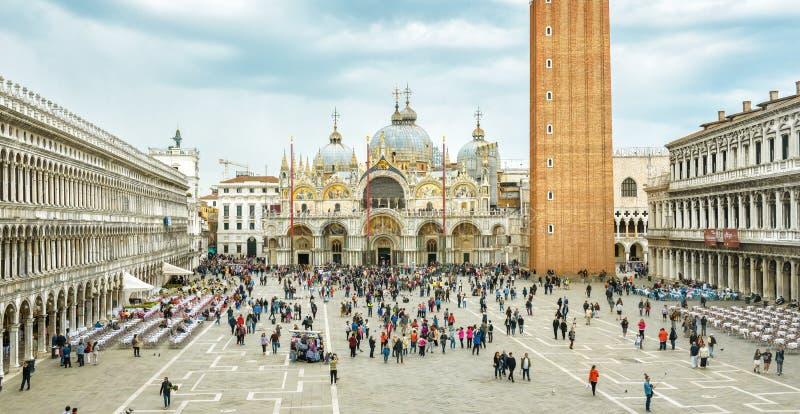 Πλατεία SAN Marco ή τετράγωνο του σημαδιού του ST στη Βενετία, Ιταλία στοκ εικόνες με δικαίωμα ελεύθερης χρήσης
