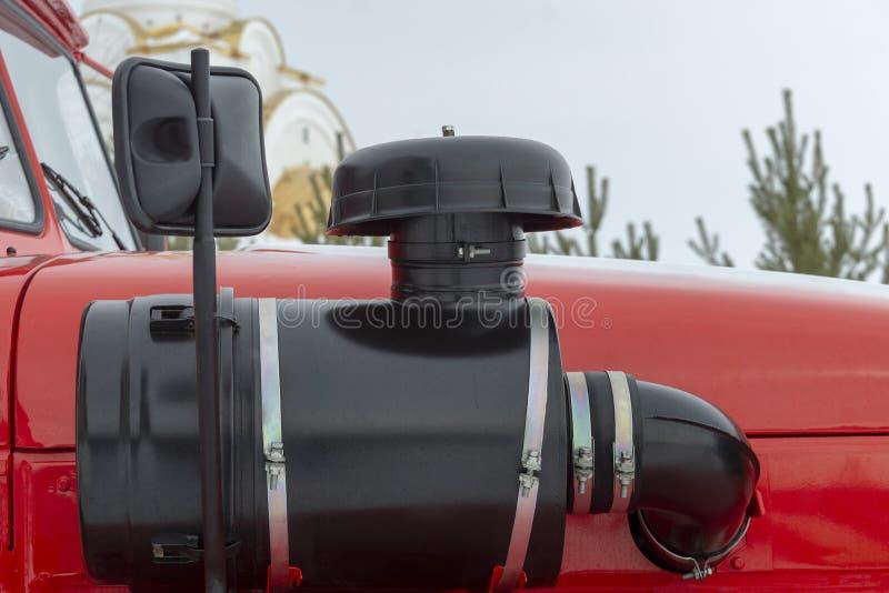 Πλευρά του αμαξιού του πυροσβεστικού οχήματος στοκ εικόνα