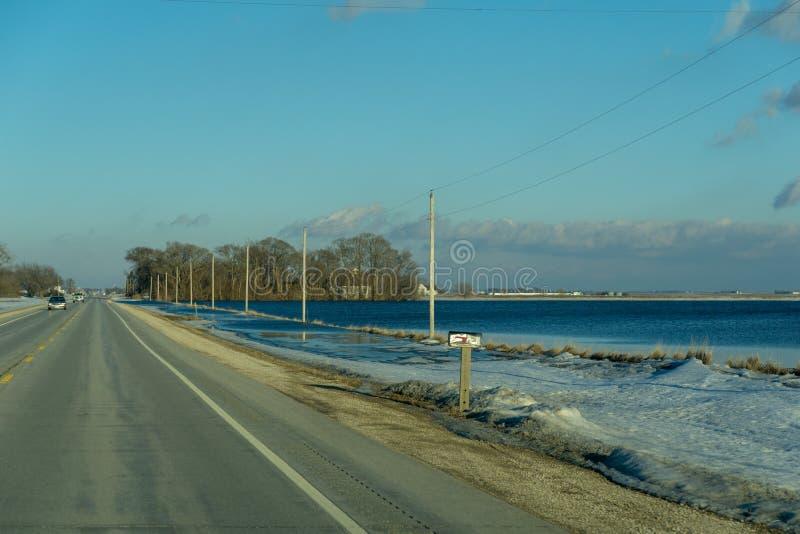 Πλημμύρα αγροτικών τομέων της Αϊόβα Νεμπράσκα στοκ φωτογραφία με δικαίωμα ελεύθερης χρήσης