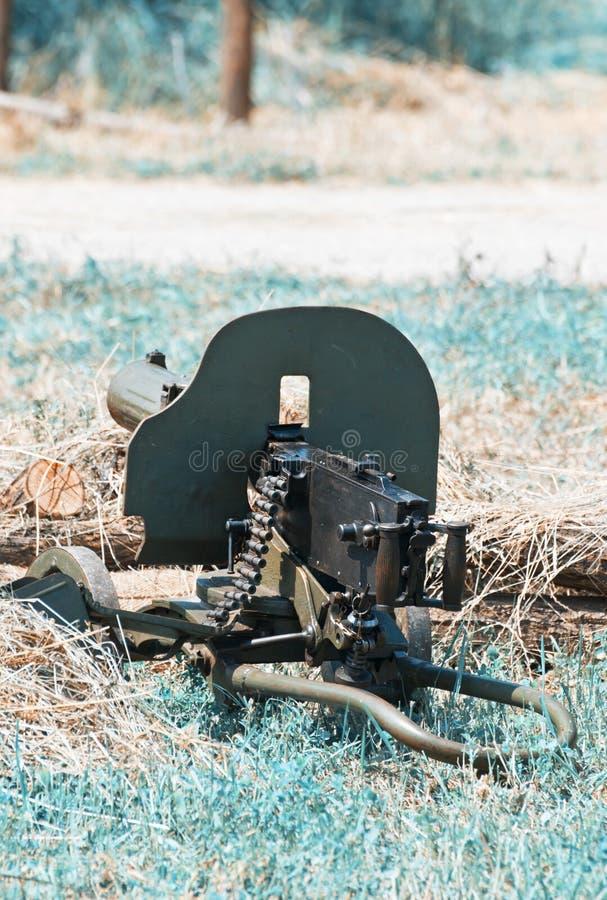 Πολυβόλο του Δεύτερου Παγκόσμιου Πολέμου, βιομηχανικό ύφος στοκ εικόνα με δικαίωμα ελεύθερης χρήσης