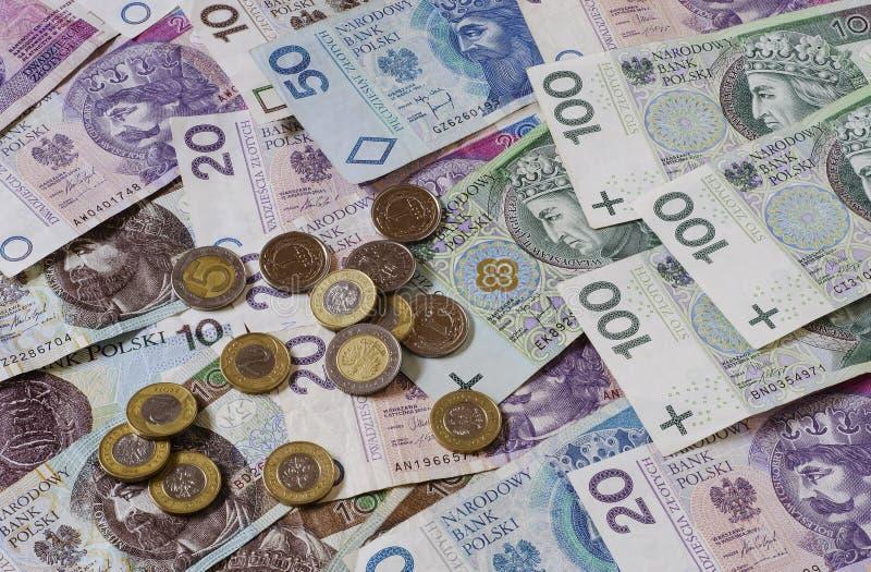 Πολωνικός zloty των διαφορετικών μετονομασιών 3 στοκ φωτογραφίες