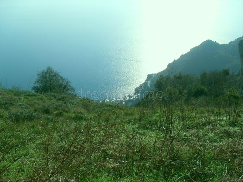 Πορεία των Θεών, Positano άνωθεν στοκ φωτογραφία