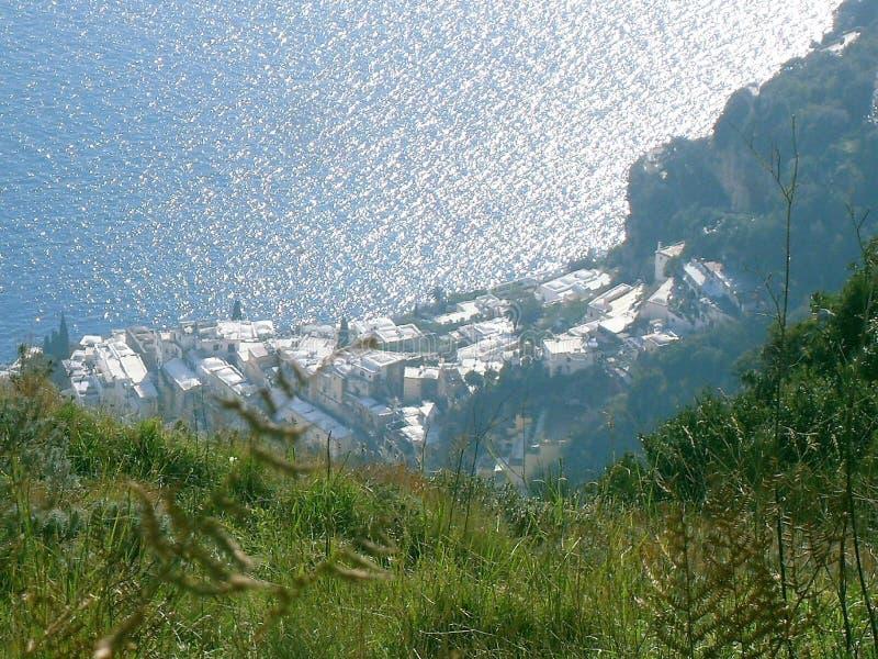 Πορεία των Θεών, Positano άνωθεν στοκ εικόνα με δικαίωμα ελεύθερης χρήσης