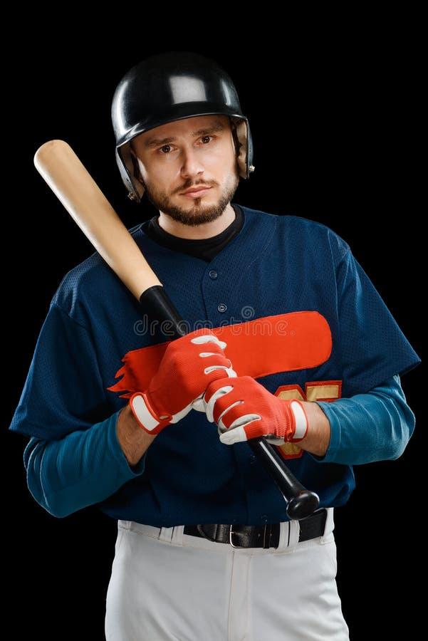 Πορτρέτο ενός μπέιζ-μπώλ hitter στοκ φωτογραφία με δικαίωμα ελεύθερης χρήσης