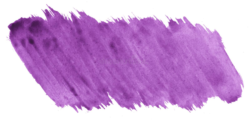 Πορφυρό αφηρημένο υπόβαθρο watercolor, λεκές, χρώμα παφλασμών, λεκές, διαζύγιο Εκλεκτής ποιότητας έργα ζωγραφικής για το σχέδιο κ ελεύθερη απεικόνιση δικαιώματος