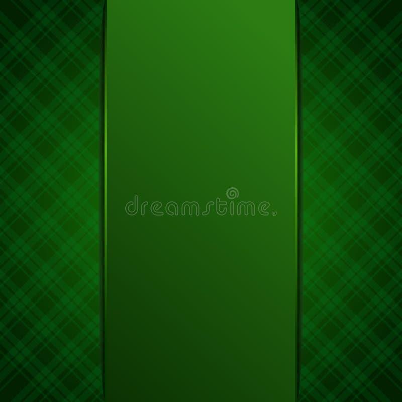 Πράσινο κενό, πρότυπο, υπόβαθρο για το σχέδιό σας απεικόνιση αποθεμάτων