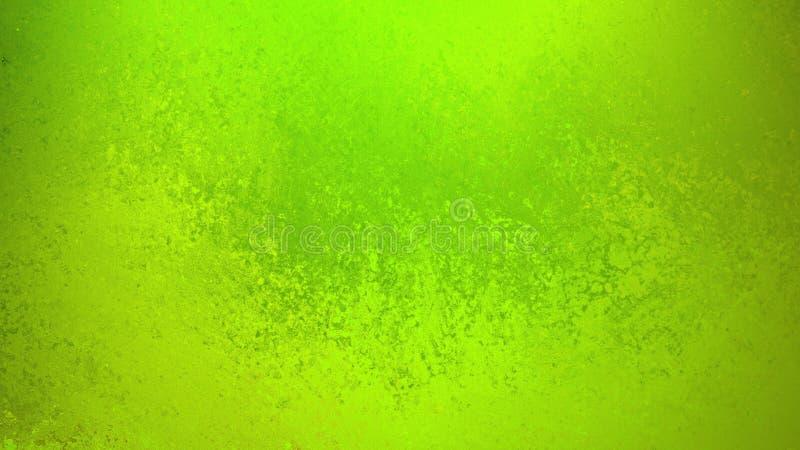 Πράσινο υπόβαθρο με το κομψό κατασκευασμένος σφουγγισμένο ή grunge εκλεκτής ποιότητας σχέδιο σύστασης με τα σκούρο πράσινο σύνορα απεικόνιση αποθεμάτων