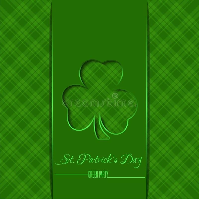 Πράσινο πρότυπο, υπόβαθρο για την ημέρα του ST Πάτρικ ελεύθερη απεικόνιση δικαιώματος