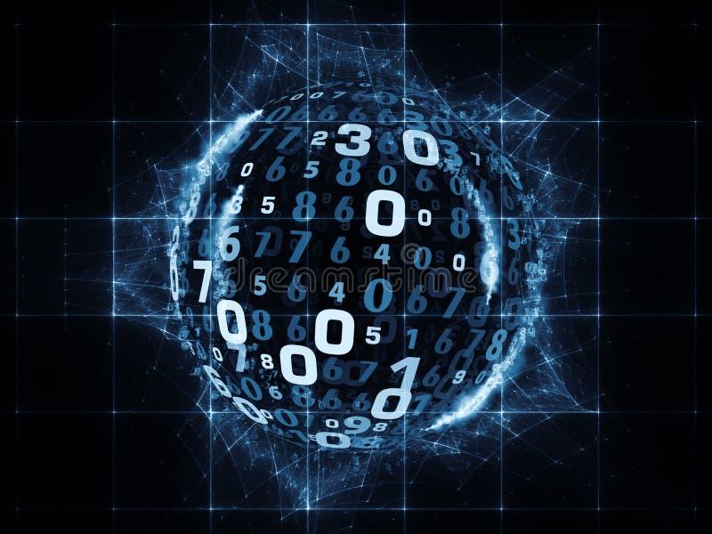 Πρόοδος των ψηφιακών πληροφοριών ελεύθερη απεικόνιση δικαιώματος