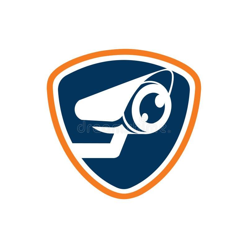 Πρότυπο εικονιδίων λογότυπων ρολογιών καμερών ματιών επιτήρησης ασφάλειας απεικόνιση αποθεμάτων