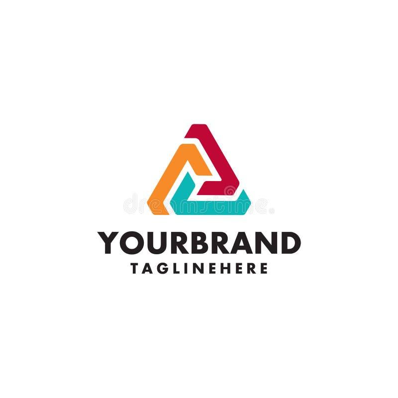Πρότυπο λογότυπων Σύγχρονο διανυσματικό αφηρημένο δημιουργικό σημάδι ή σύμβολο τριγώνων απεικόνιση αποθεμάτων