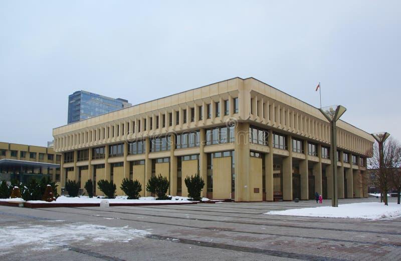 Πρώτη οικοδόμηση του Seimas της Λιθουανίας στοκ εικόνες με δικαίωμα ελεύθερης χρήσης