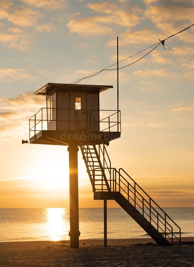 Πύργος διάσωσης - η θάλασσα της Βαλτικής - νησί Usedom στοκ φωτογραφία με δικαίωμα ελεύθερης χρήσης