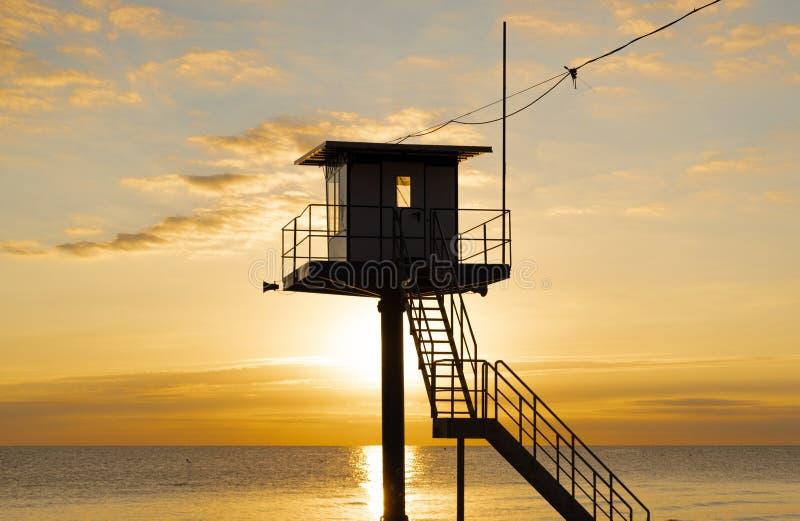 Πύργος διάσωσης - η θάλασσα της Βαλτικής - νησί Usedom στοκ εικόνα με δικαίωμα ελεύθερης χρήσης