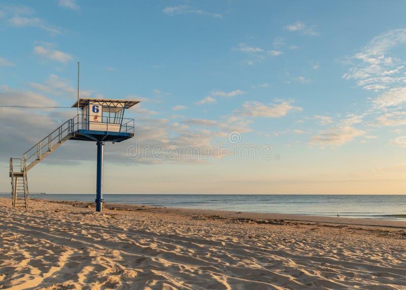 Πύργος διάσωσης - η θάλασσα της Βαλτικής - νησί Usedom στοκ εικόνες με δικαίωμα ελεύθερης χρήσης