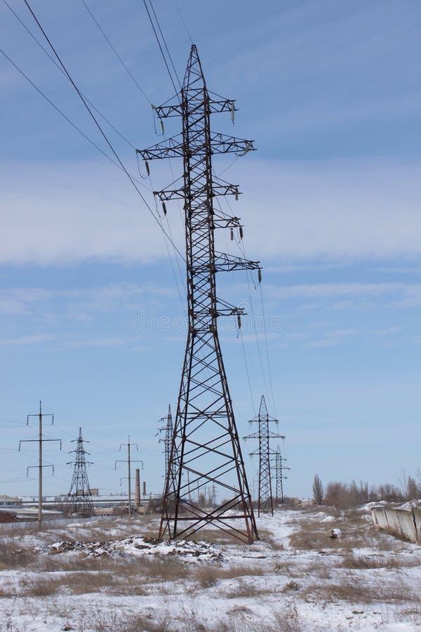 Πύργος δύναμης υψηλής τάσης στοκ εικόνα
