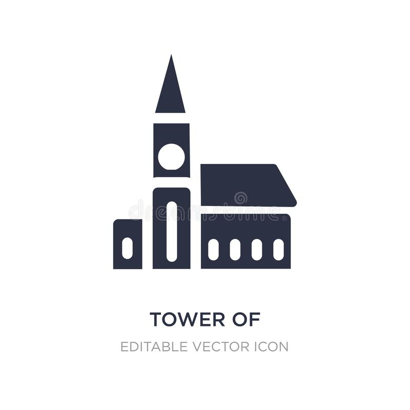 πύργος του nevyansk στο εικονίδιο της Ρωσίας στο άσπρο υπόβαθρο Απλή απεικόνιση στοιχείων από την έννοια μνημείων απεικόνιση αποθεμάτων