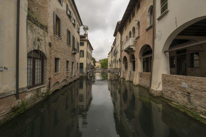 Πόλη του Treviso, Ιταλία, και τα κανάλια του στοκ φωτογραφία με δικαίωμα ελεύθερης χρήσης