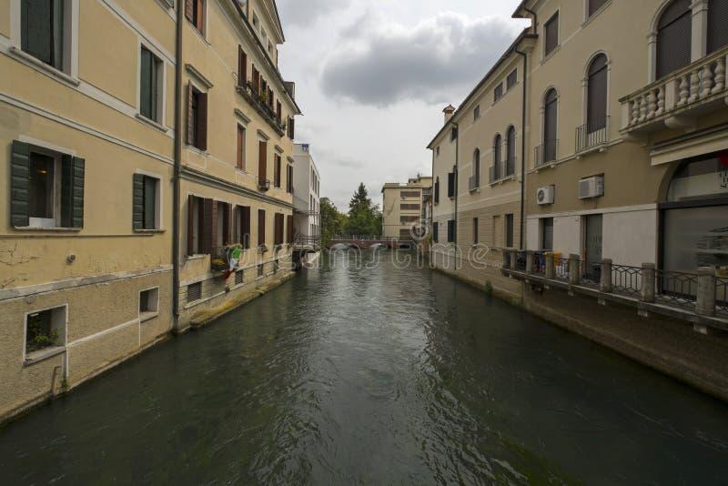 Πόλη του Treviso, Ιταλία, και τα κανάλια του στοκ εικόνες