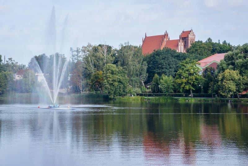 Πόλη Ilawa στην Πολωνία στοκ εικόνες