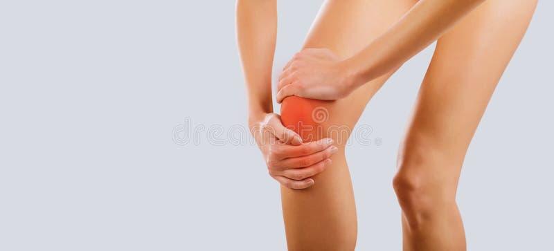 Πόνος, ζημία στο γόνατο στοκ φωτογραφία με δικαίωμα ελεύθερης χρήσης