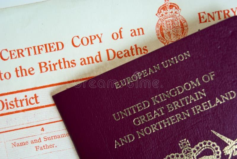 Π.Χ. και διαβατήριο στοκ εικόνα με δικαίωμα ελεύθερης χρήσης