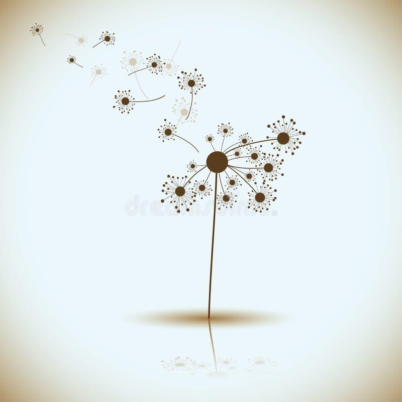 Аbstract dandelion,. Аbstract dandelion background, illustration stock illustration