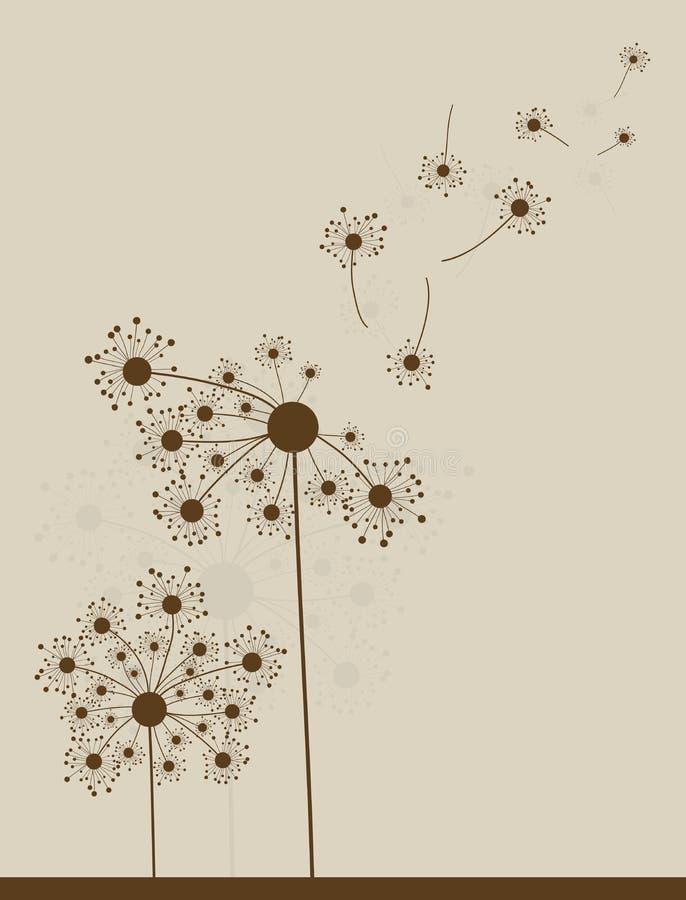 Аbstract dandelion background,. Illustration stock illustration