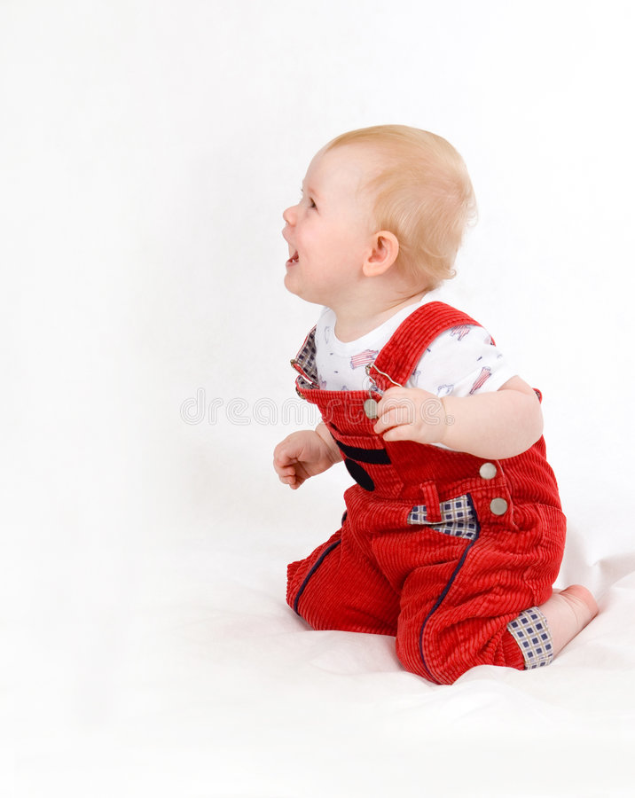 Нарру baby 07. Happy smiling baby 11 month old sitting stock photos