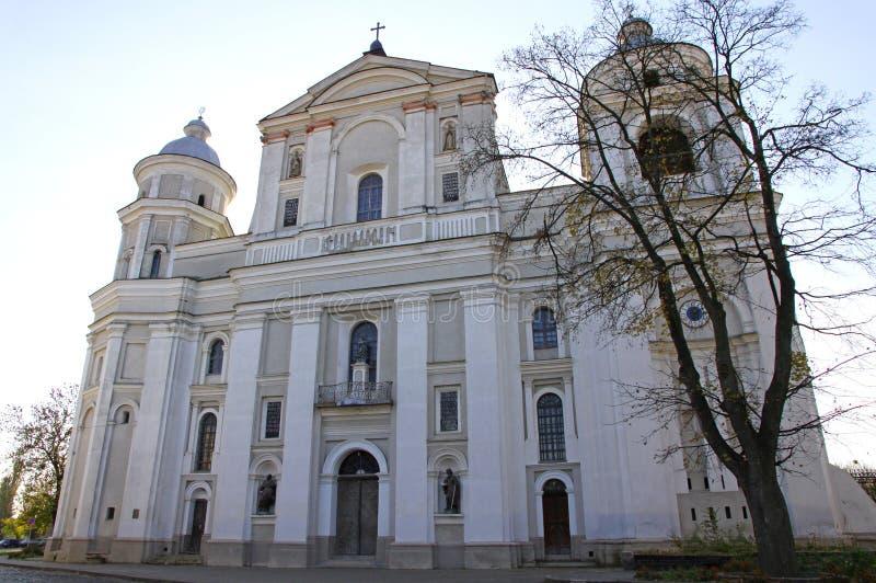 Ð¡atholic Cathedral in Lutsk, Ukraine. Saint Petro and Pavlo Catholic Cathedral in Lutsk, Ukraine - monument of the 17-th century stock photography