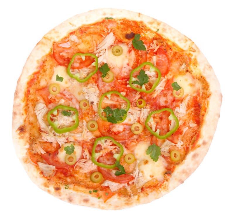 Сhicken pizza stock photo