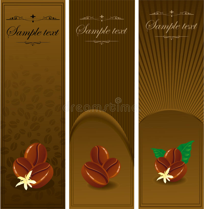 Ð¡offee banners. royalty free illustration