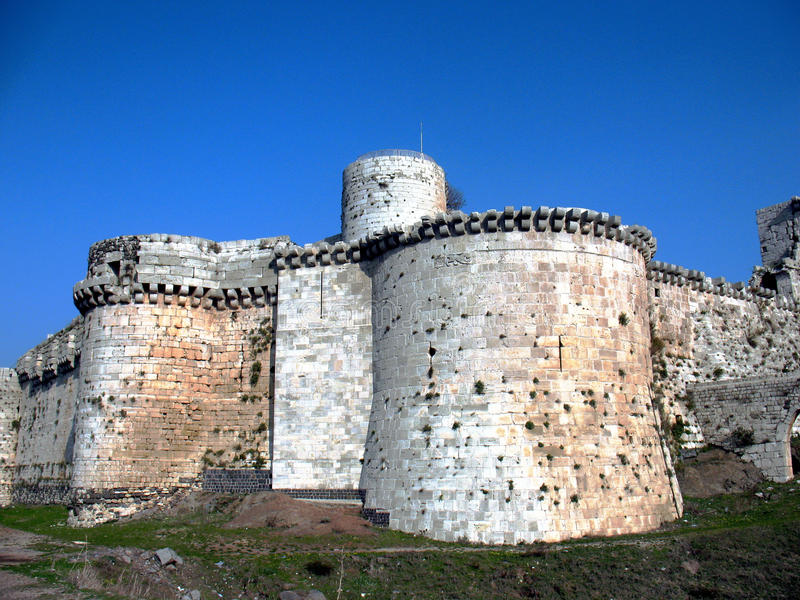 Ð¡rak des Chevaliers. Western Wall royalty free stock images