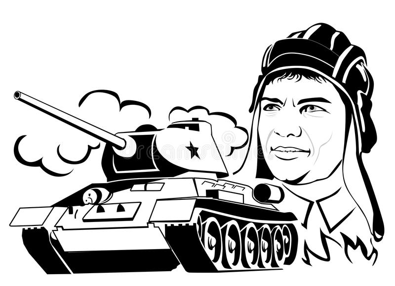 Тank i tankowiec royalty ilustracja
