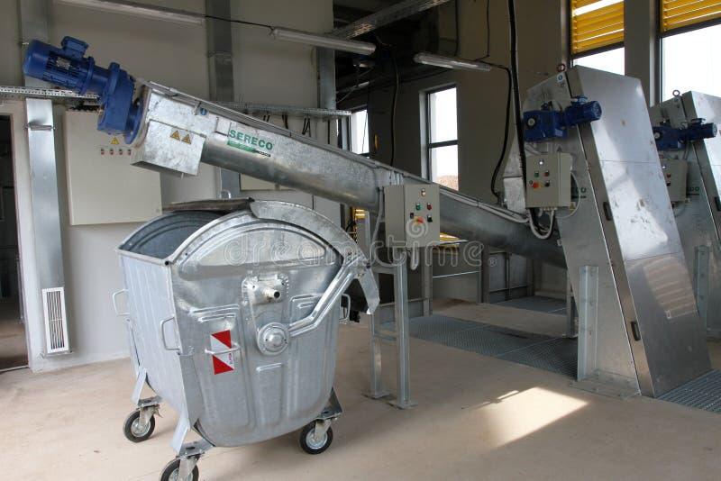 Тhe-Müllgrube für nicht-gefährlichen überschüssigen Abfall bei Yana, Kremikovtzi, Bulgarien Abfall abgeleiteter Brennstoff RDF-B lizenzfreie stockfotografie