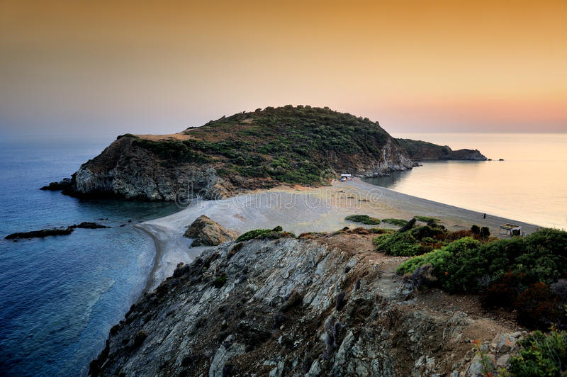 Тhe most southern point of Halkidiki royalty free stock image
