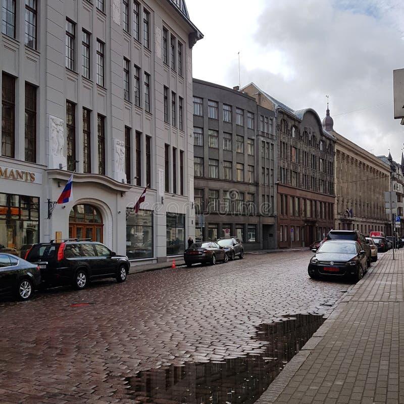 УГ Ð¸Ñ †Ñ ‹ÐÐ¸Ð ³ и, Л Ð°Ñ 'Ð ² Ð¸Ñ  | Op de straten van Riga, Letland stock foto