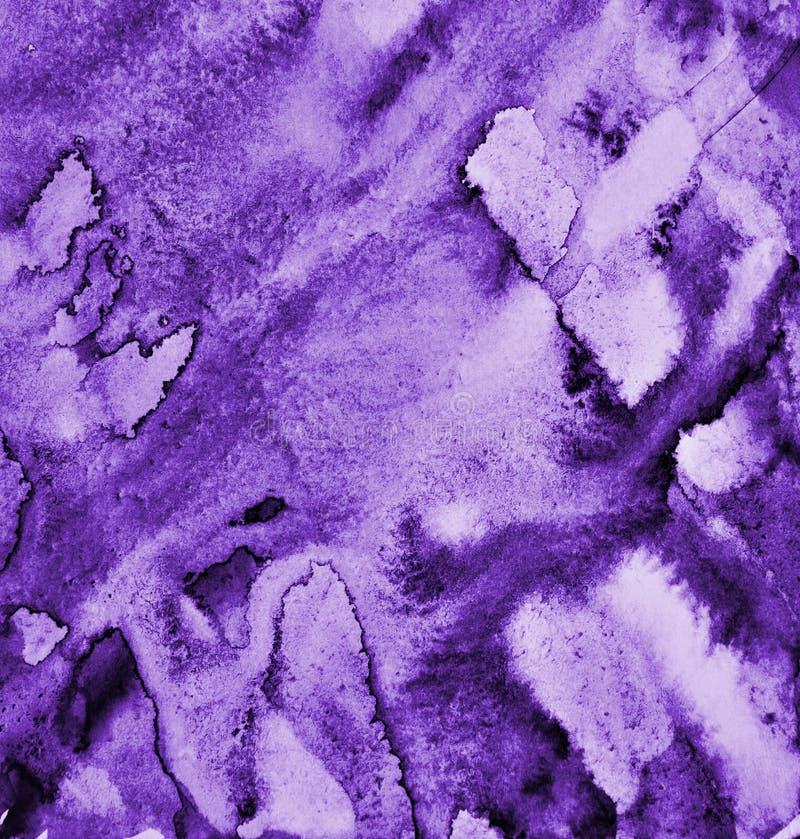 Абстрактная акварель сирени на бумажной текстуре как предпосылка стоковые изображения rf