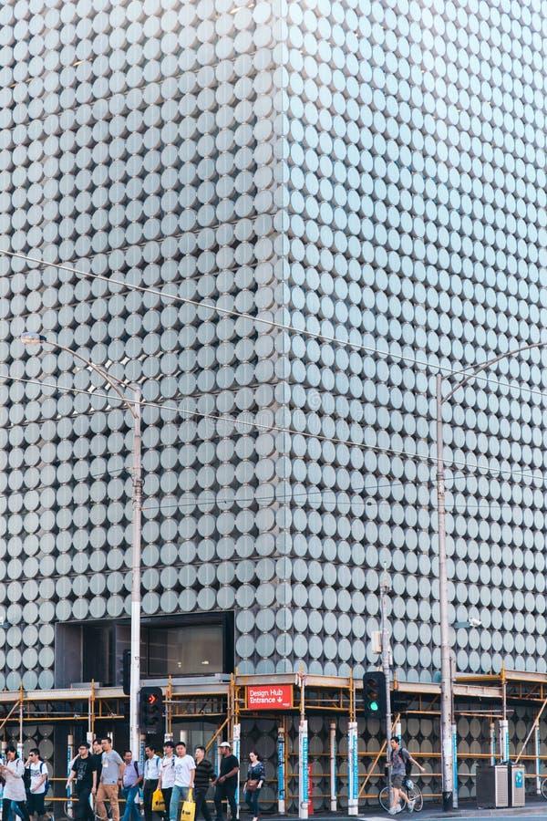 Абстрактная архитектура современного здания Мельбурн, Австралия стоковое изображение rf