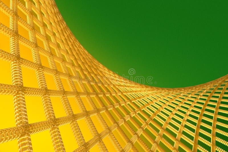 Абстрактная геометрическая предпосылка с пересеченными линиями иллюстрация штока