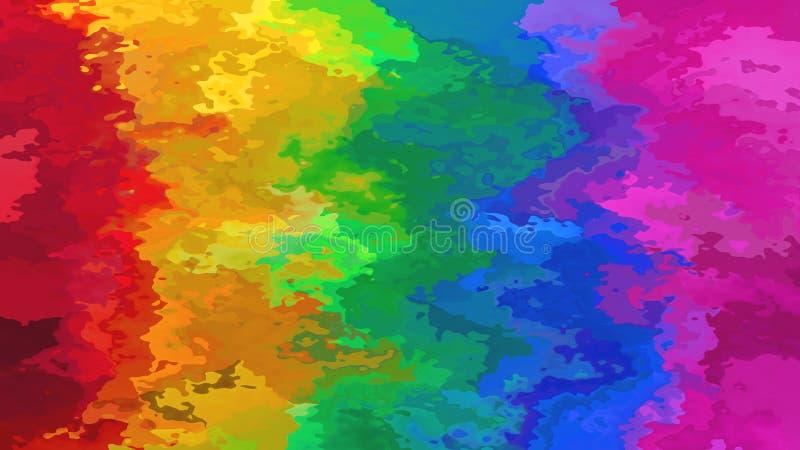 Абстрактная запятнанная цветовая гамма вертикальной радуги предпосылки прямоугольника картины полная обнажает - современное крася иллюстрация штока