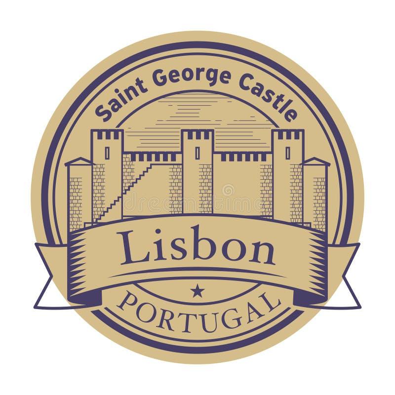 Абстрактная избитая фраза со словами Лиссабоном, Португалией бесплатная иллюстрация
