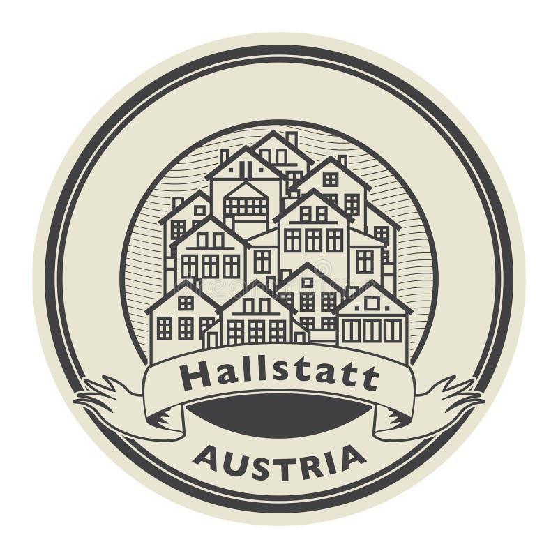 Абстрактная избитая фраза со словами Hallstatt, Австрией бесплатная иллюстрация